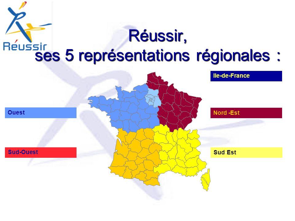 Réussir, ses 5 représentations régionales :
