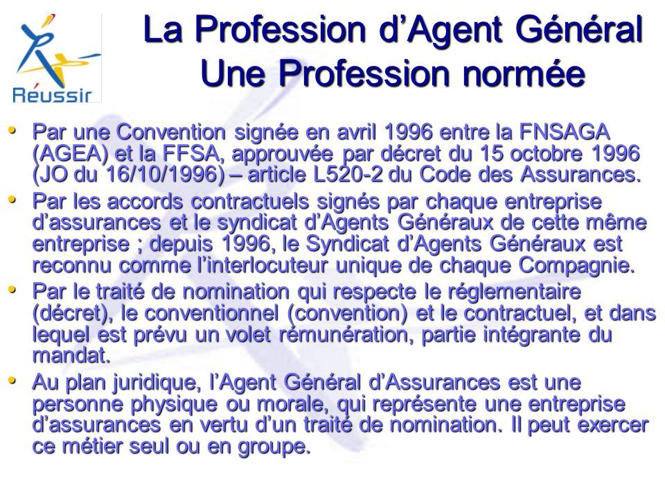 La Profession d'Agent Général Une Profession normée