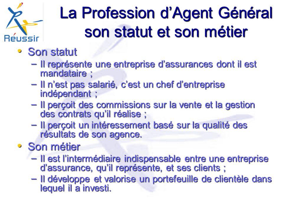 La Profession d'Agent Général son statut et son métier