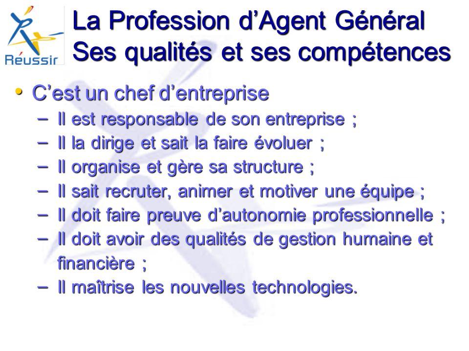 La Profession d'Agent Général Ses qualités et ses compétences