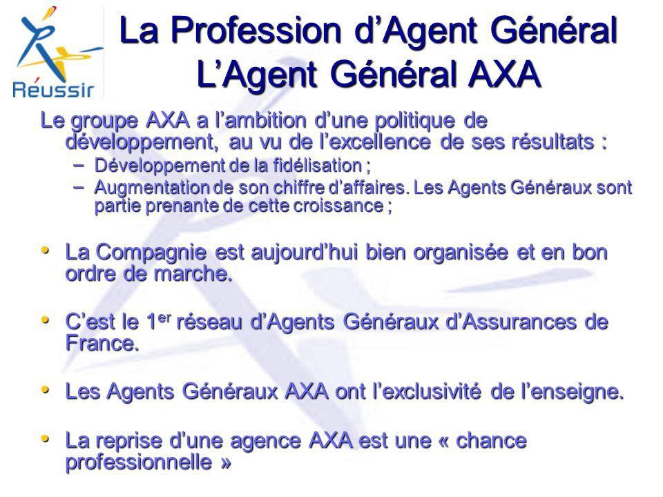 La Profession d'Agent Général L'Agent Général AXA