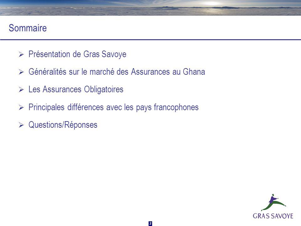 Sommaire Présentation de Gras Savoye