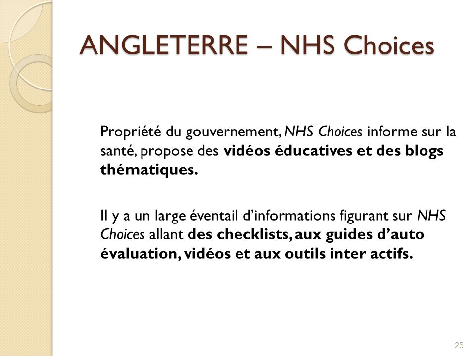 ANGLETERRE – NHS Choices