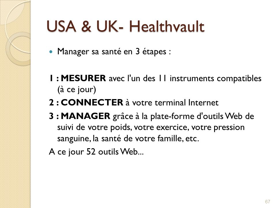 USA & UK- Healthvault Manager sa santé en 3 étapes :
