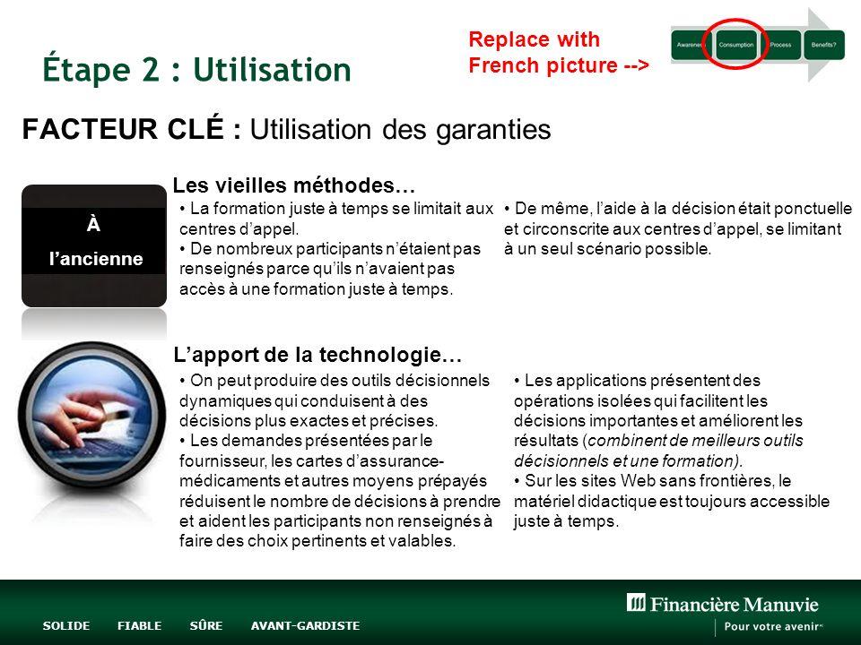 Étape 2 : Utilisation FACTEUR CLÉ : Utilisation des garanties