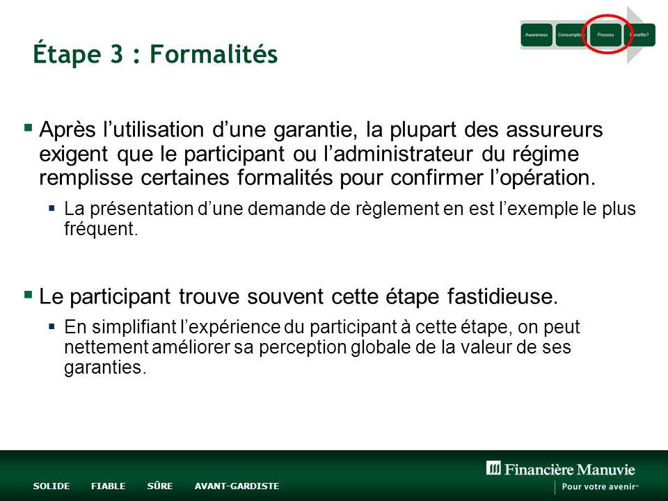 Étape 3 : Formalités