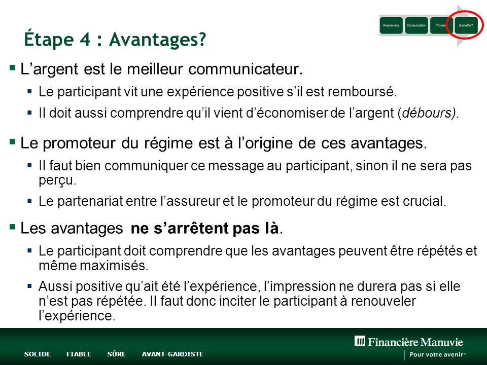 Étape 4 : Avantages L'argent est le meilleur communicateur.