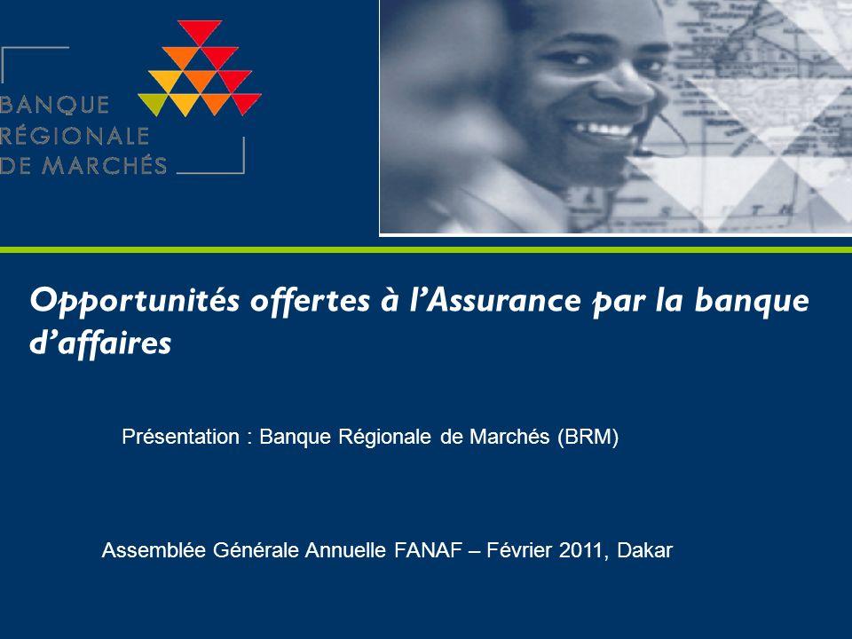 Opportunités offertes à l'Assurance par la banque d'affaires