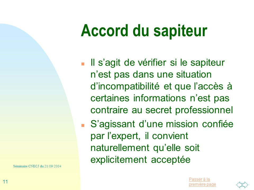 Accord du sapiteur