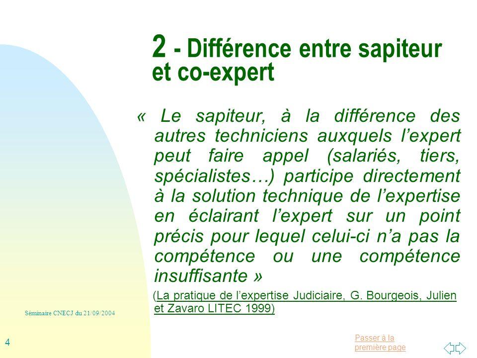 2 - Différence entre sapiteur et co-expert