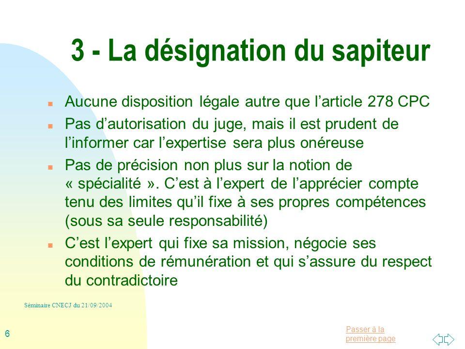 3 - La désignation du sapiteur