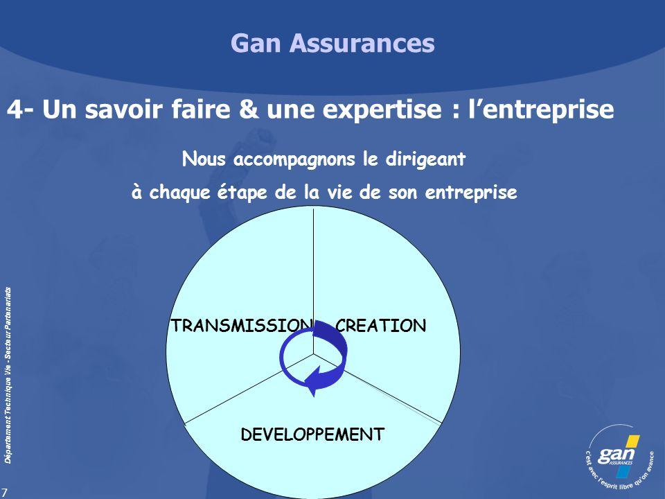 4- Un savoir faire & une expertise : l'entreprise