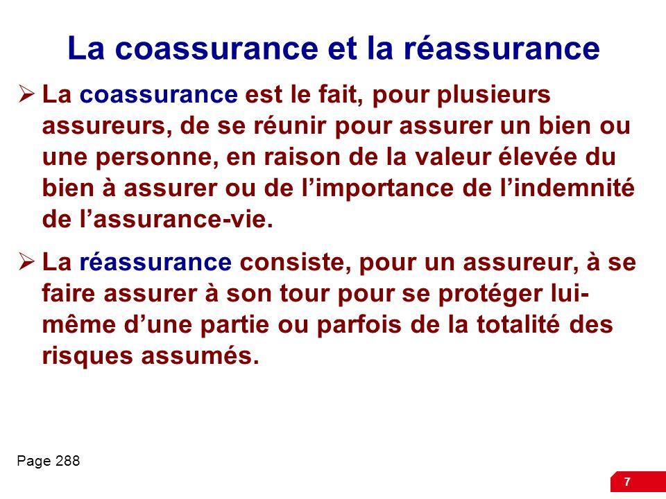 La coassurance et la réassurance