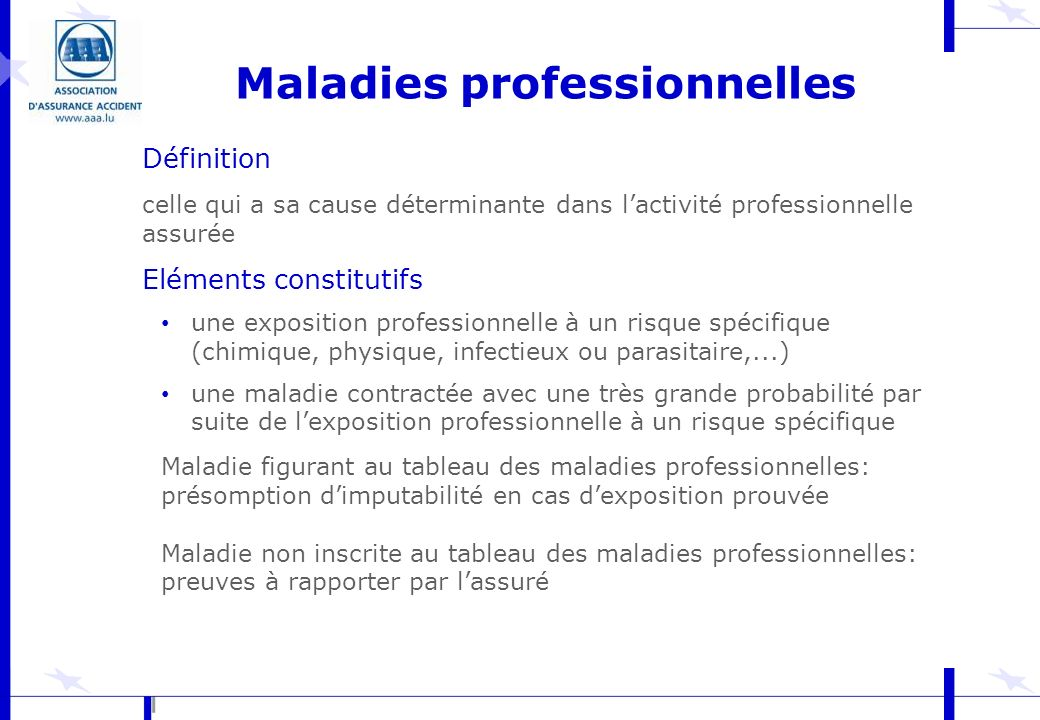 Maladies professionnelles
