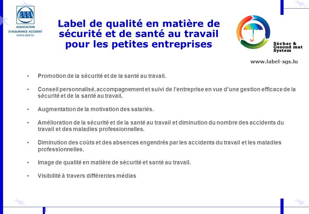 Label de qualité en matière de sécurité et de santé au travail pour les petites entreprises