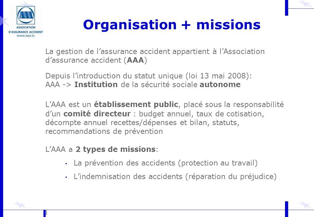 Organisation + missions