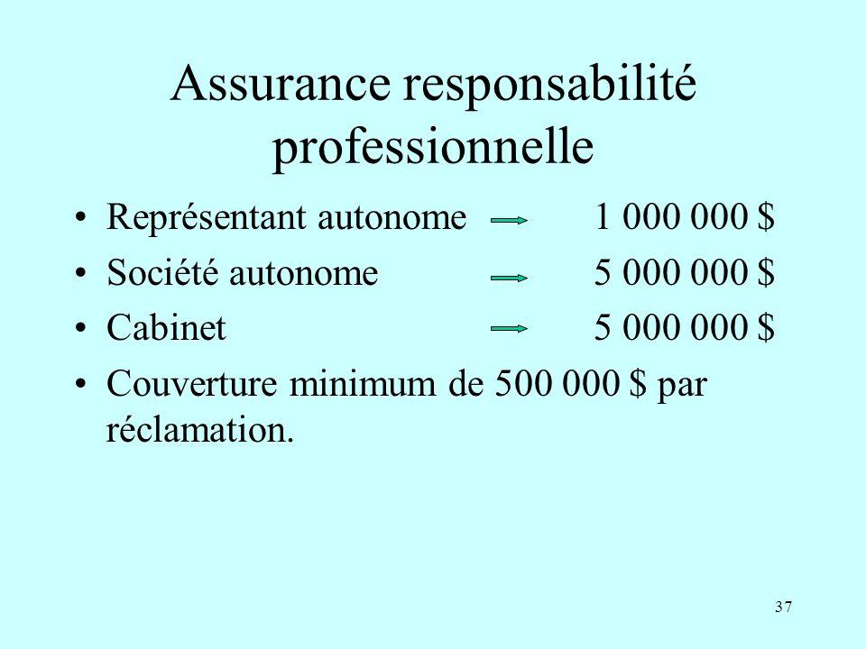 Assurance responsabilité professionnelle