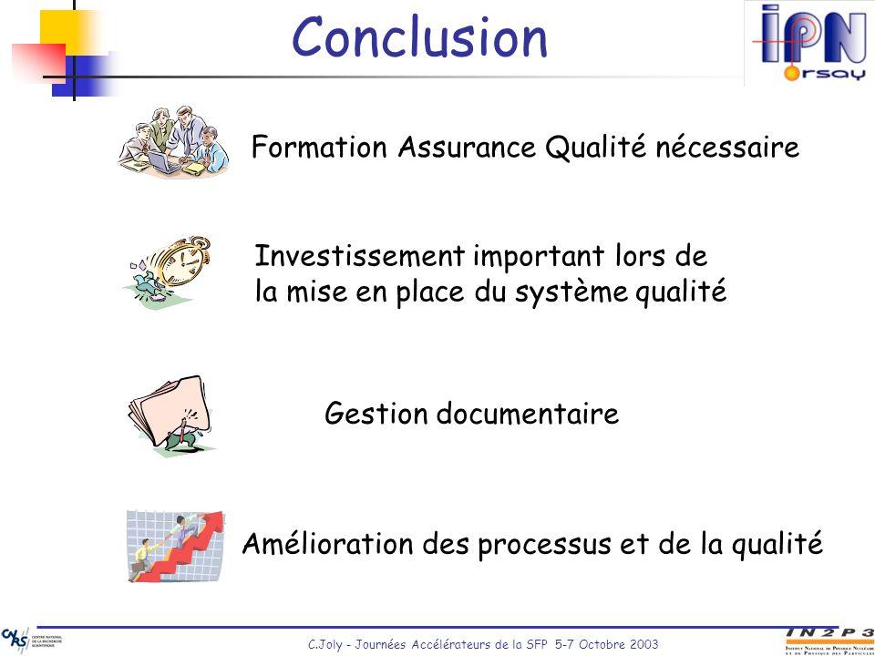 Conclusion Formation Assurance Qualité nécessaire