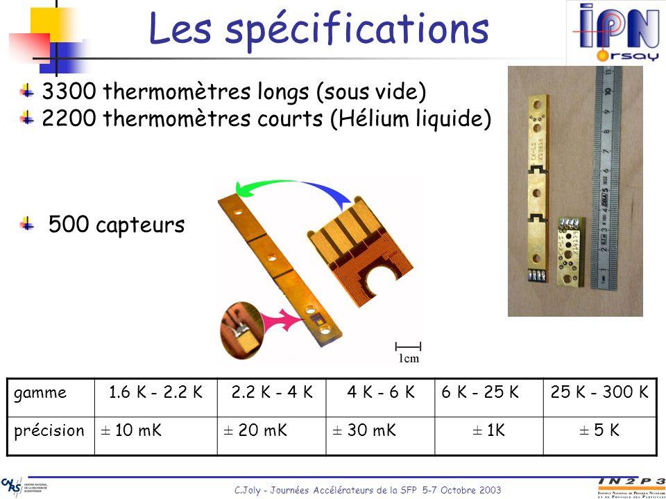 Les spécifications 3300 thermomètres longs (sous vide)