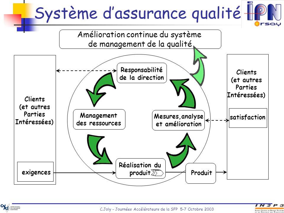Système d'assurance qualité