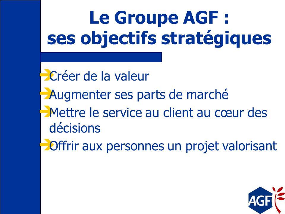 Le Groupe AGF : ses objectifs stratégiques