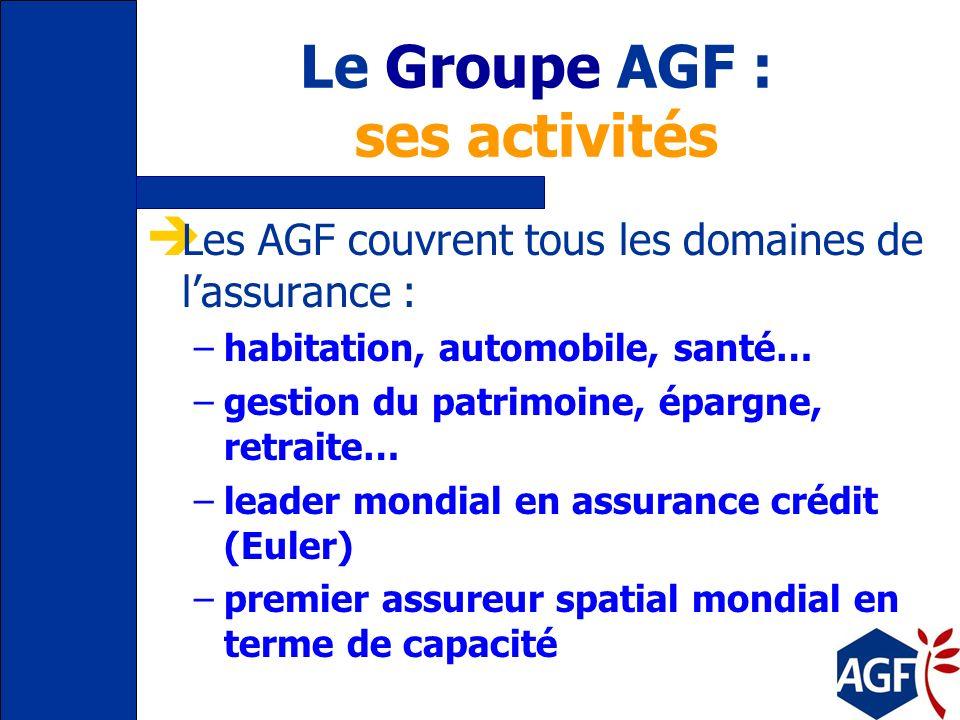 Le Groupe AGF : ses activités