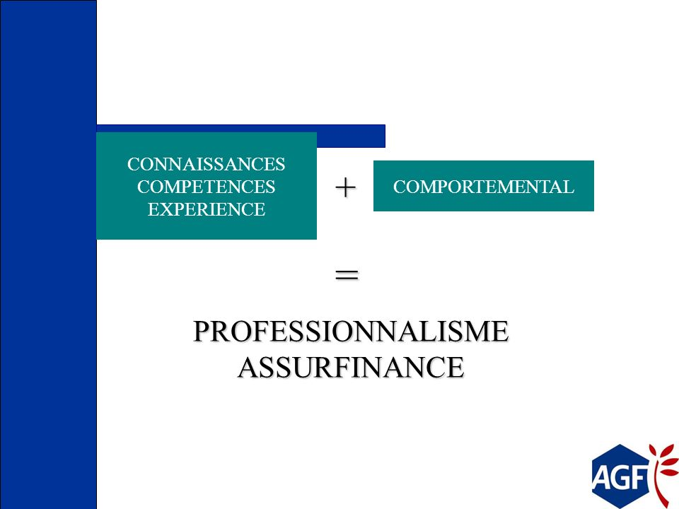 = + PROFESSIONNALISME ASSURFINANCE CONNAISSANCES COMPETENCES