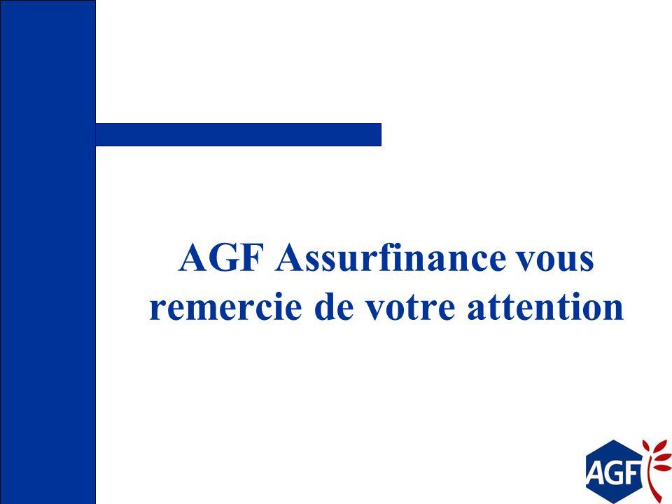 AGF Assurfinance vous remercie de votre attention