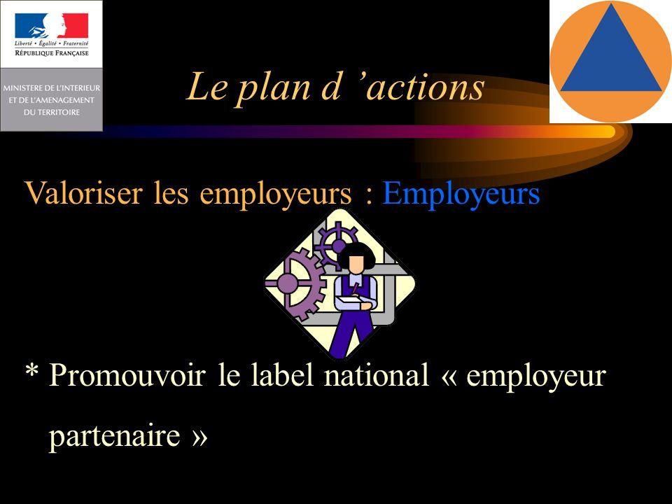 Le plan d 'actions Valoriser les employeurs : Employeurs