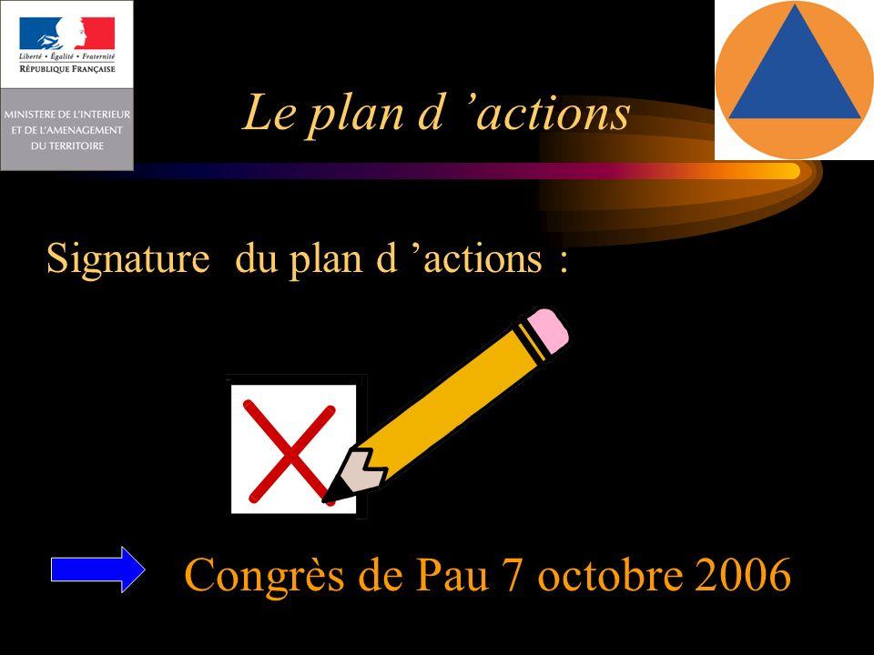Le plan d 'actions Congrès de Pau 7 octobre 2006