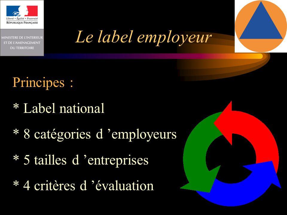 Le label employeur Principes : * Label national