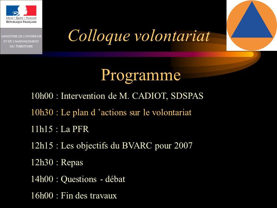 Colloque volontariat Programme