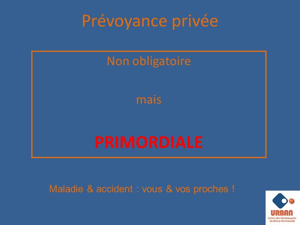Prévoyance privée PRIMORDIALE Non obligatoire mais