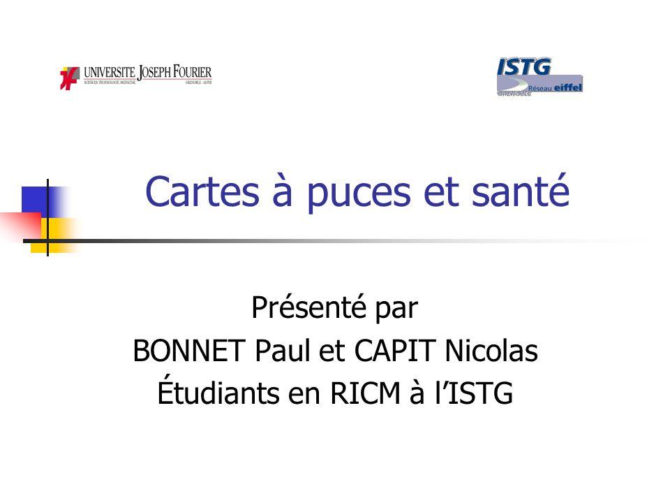 Présenté par BONNET Paul et CAPIT Nicolas Étudiants en RICM à l'ISTG