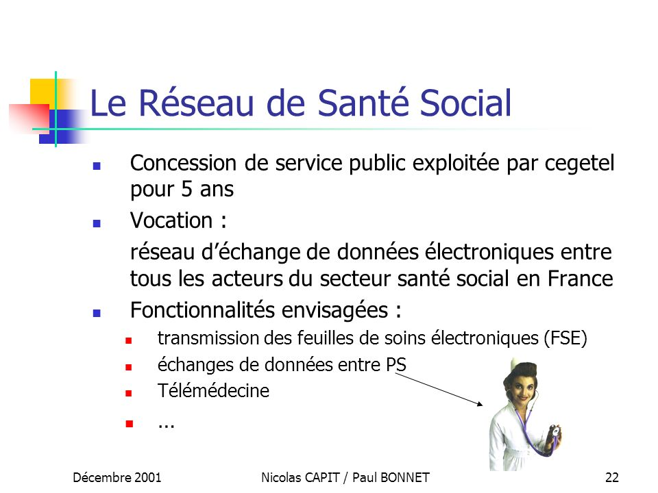 Le Réseau de Santé Social