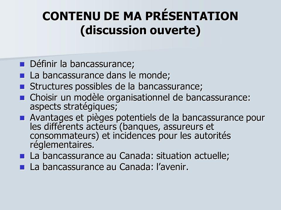 CONTENU DE MA PRÉSENTATION (discussion ouverte)