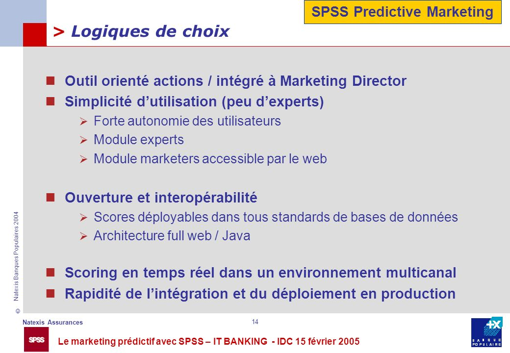 SPSS Predictive Marketing