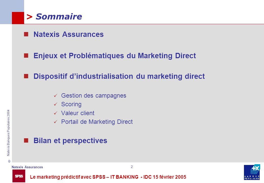 > Sommaire Natexis Assurances