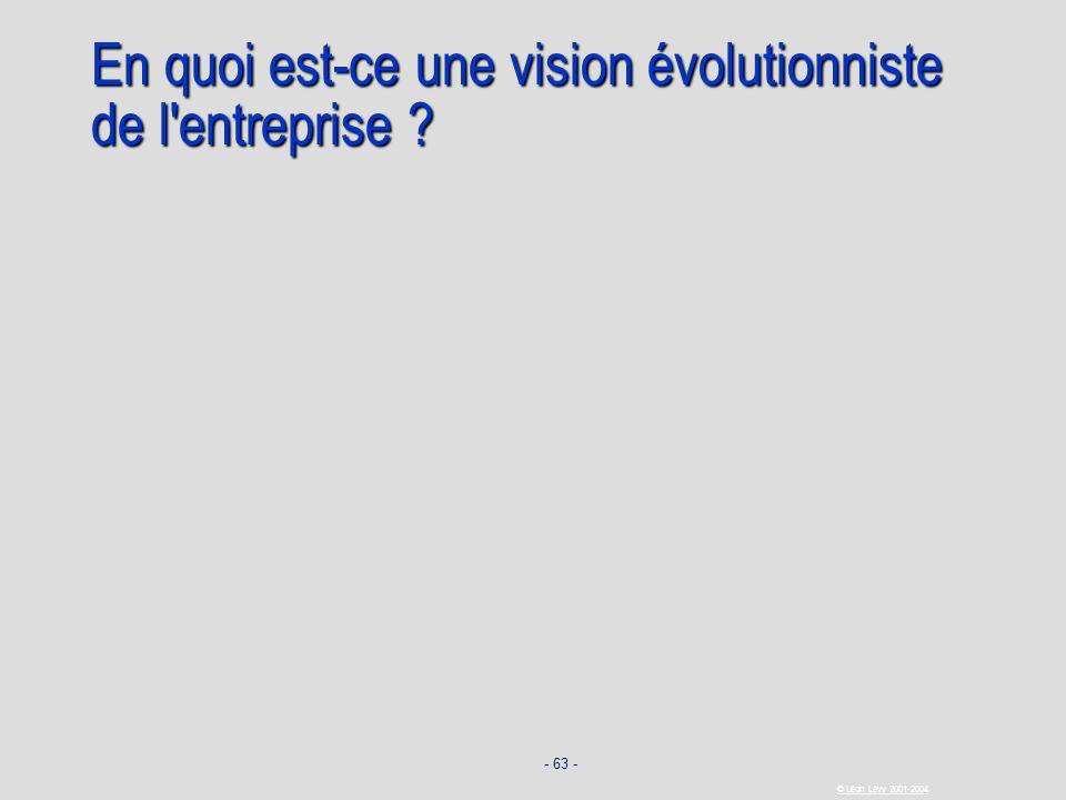 En quoi est-ce une vision évolutionniste de l entreprise