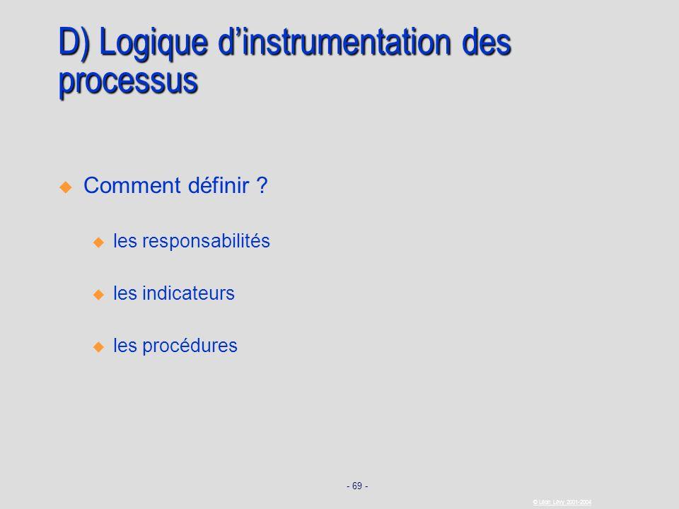 D) Logique d'instrumentation des processus