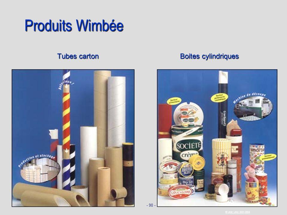Produits Wimbée Tubes carton Boites cylindriques