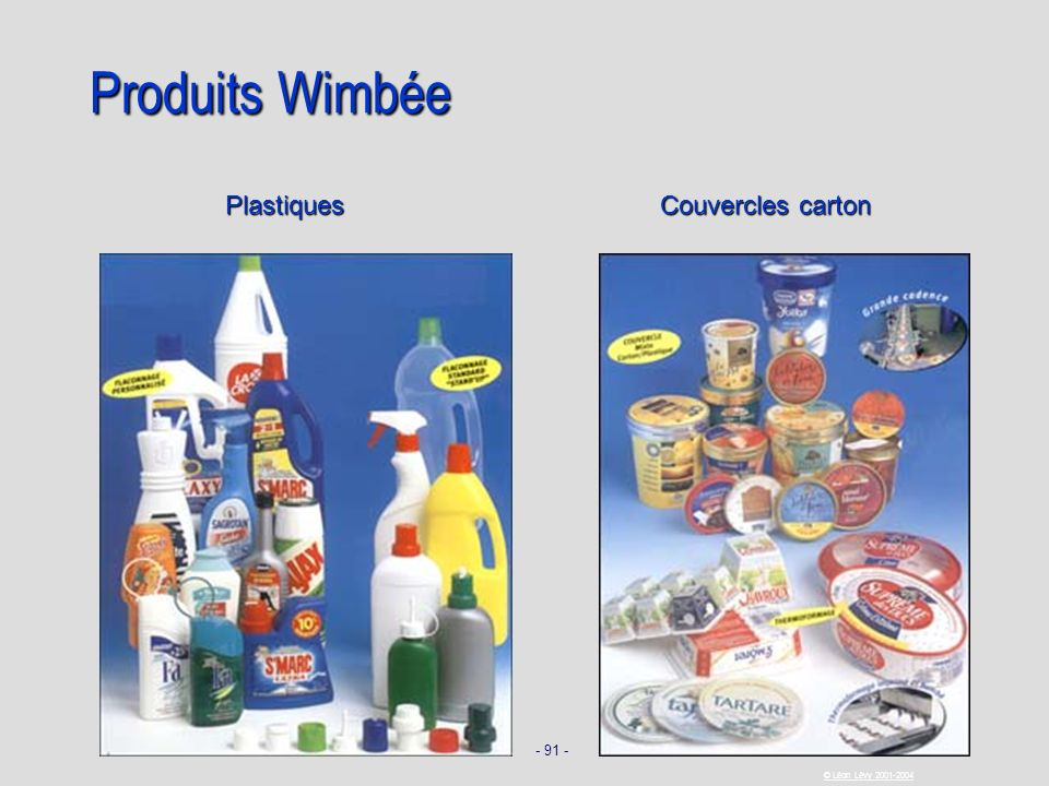 Produits Wimbée Plastiques Couvercles carton