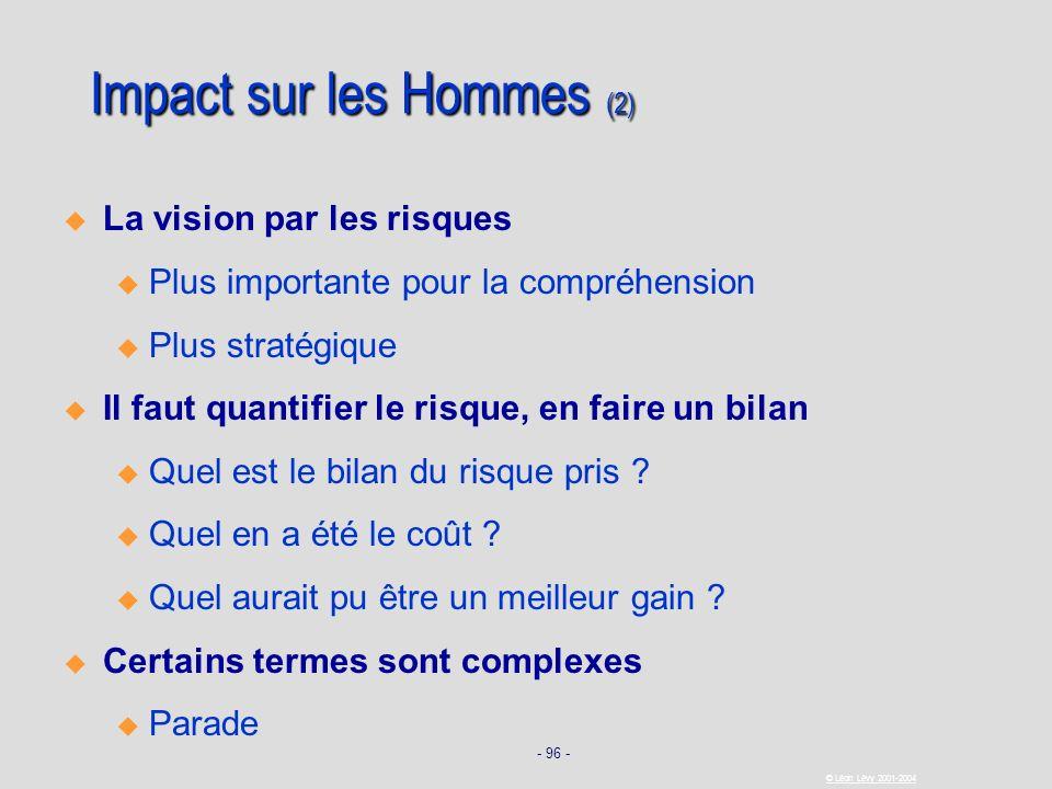 Impact sur les Hommes (2)