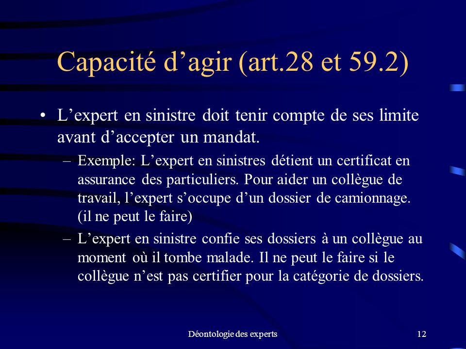 Capacité d'agir (art.28 et 59.2)
