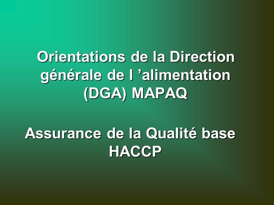 Assurance de la Qualité base HACCP