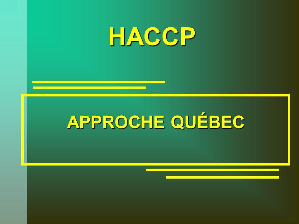 HACCP APPROCHE QUÉBEC