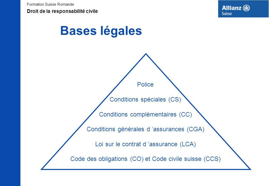 Bases légales Police Conditions spéciales (CS)