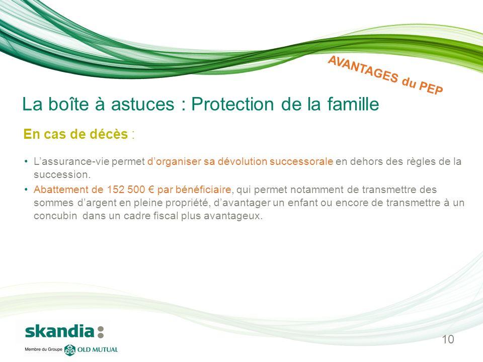 La boîte à astuces : Protection de la famille