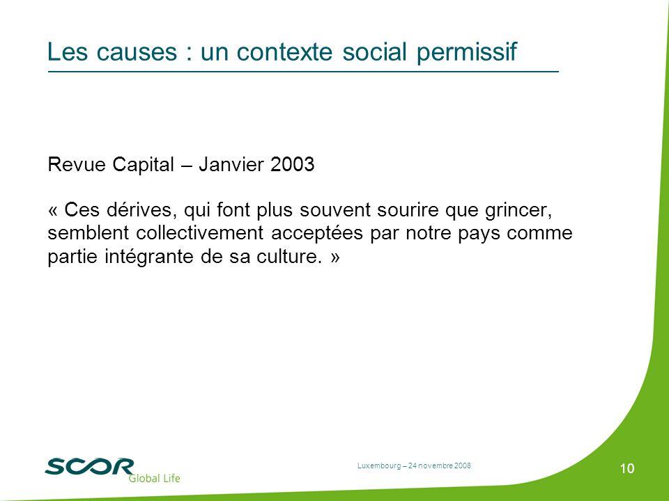 Les causes : un contexte social permissif