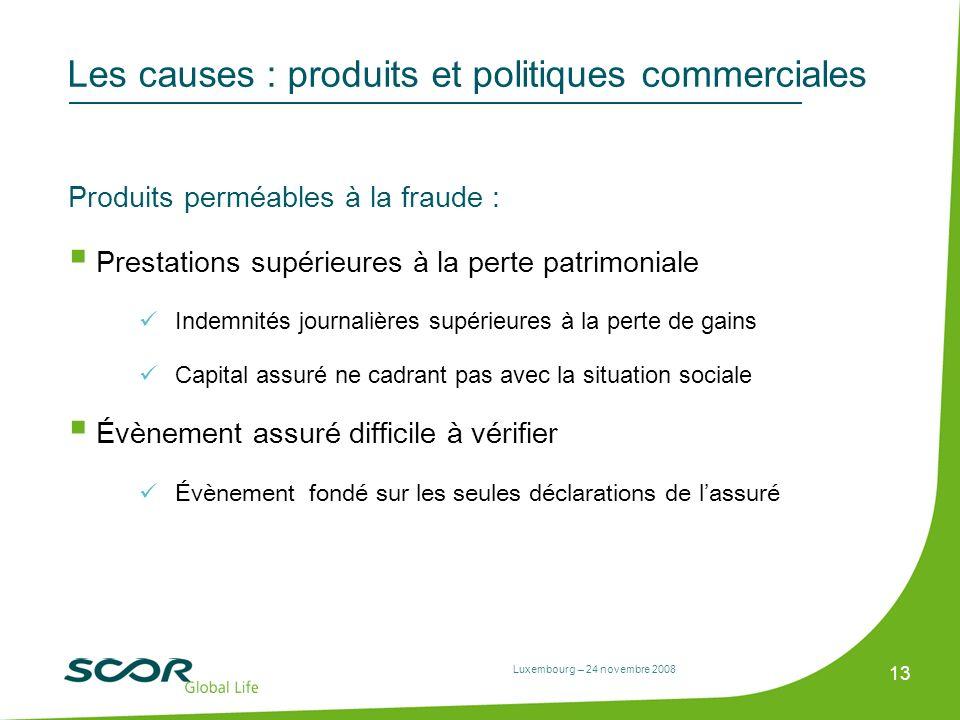 Les causes : produits et politiques commerciales
